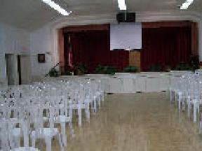 [hall set for meeting]